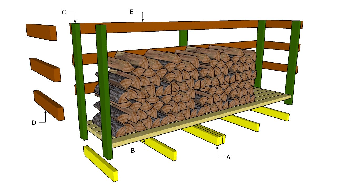 Pallet Firewood Storage Shed Plans