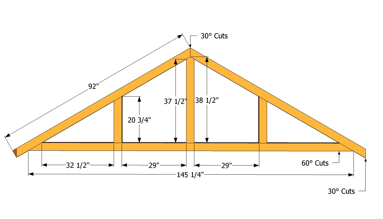 Large Shed Roof Plans | Free Outdoor Plans - DIY Shed, Wooden ...