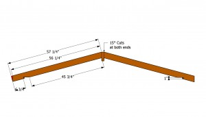 Shed rafters plans