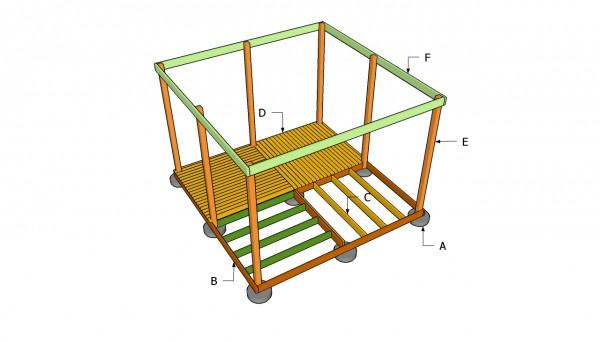 Square gazebo building plans
