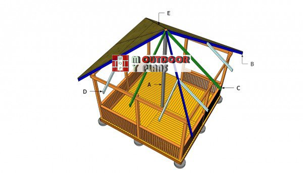 Square-gazebo-roof-plans