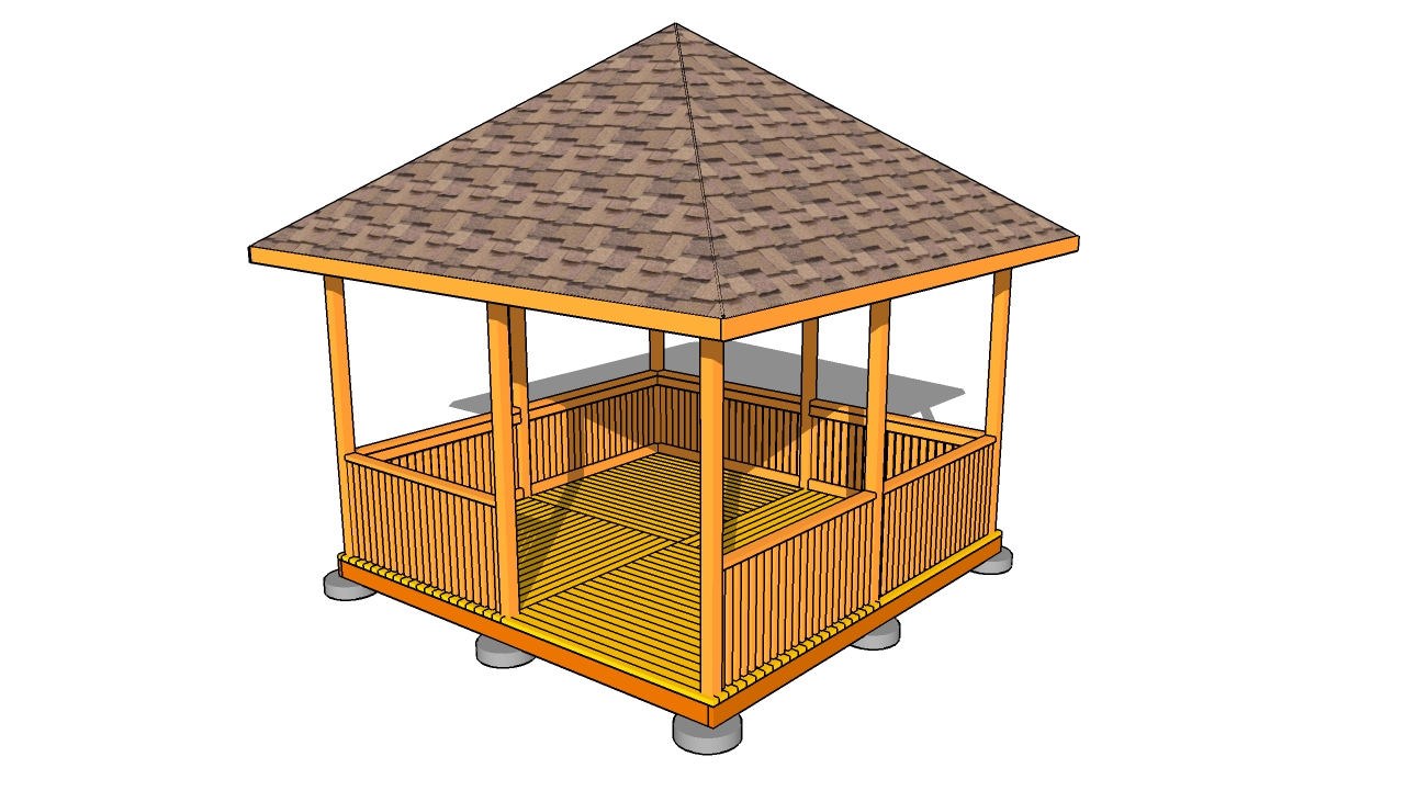 Rectangular gazebo plans myoutdoorplans free for Gazebo house plans