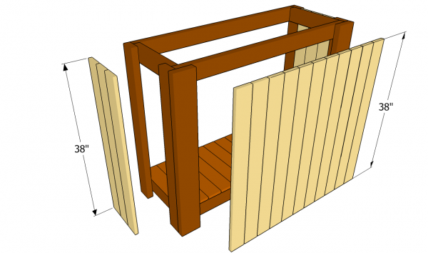 Attaching the cladding - Outdoor Bar Plans MyOutdoorPlans Free Woodworking Plans And