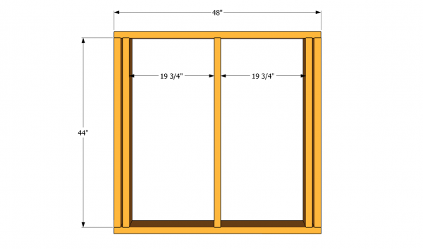 Back wall frame plans