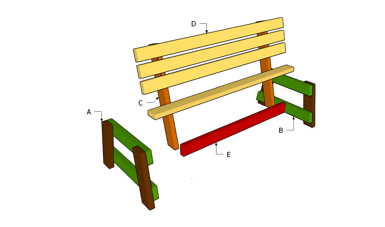 Garden Seat Plans | Free Outdoor Plans - DIY Shed, Wooden Playhouse ...