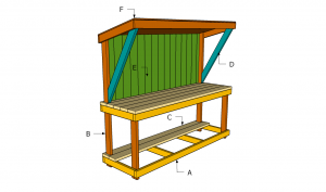 Building a garden work bench