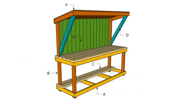 Building a garden work bench