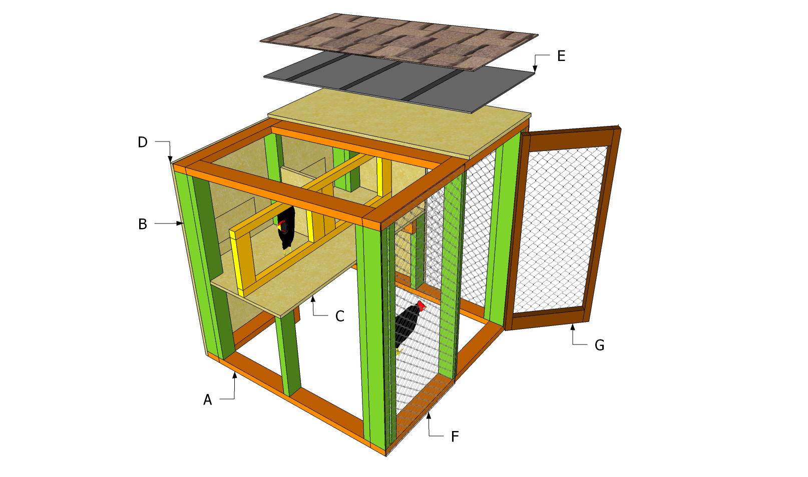 Simple chicken coop plans free outdoor plans diy shed for Simple playhouse plans free