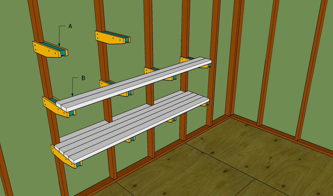 Garage shelves plans free outdoor plans diy shed for Garage storage plans