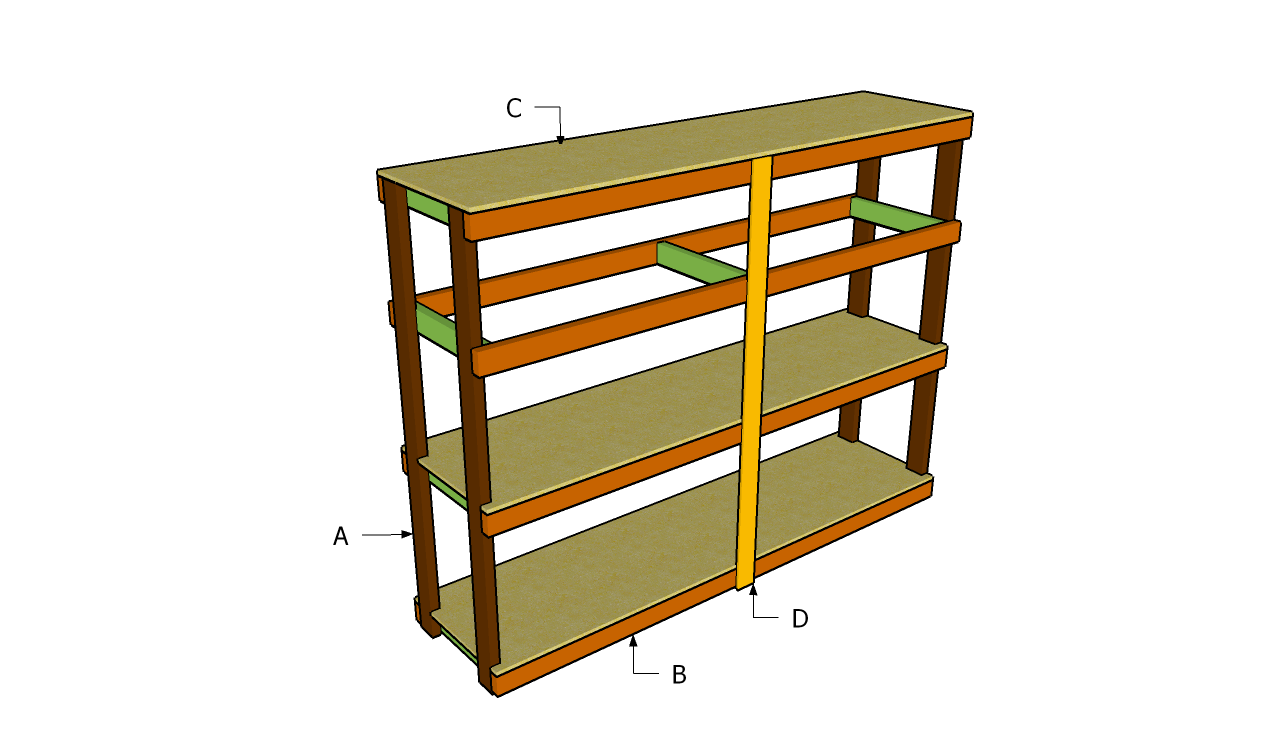 plans for simple garage wooden shelves
