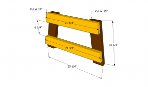 Building the sides of the seat bench