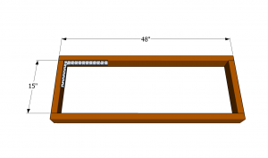 Building the frame of the wooden bar