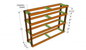 Building the garage shelving