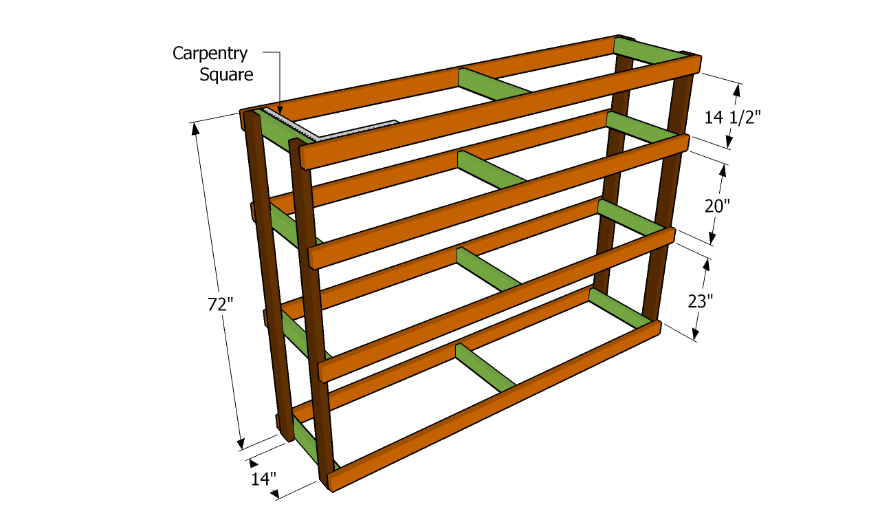 2x4 shelf plans garage