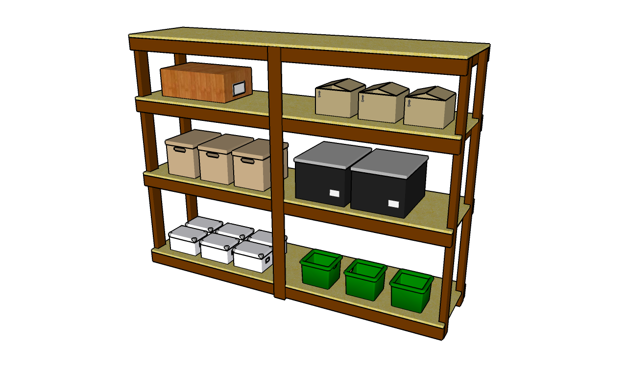 Garage shelves plans myoutdoorplans free woodworking for Garage plans with storage