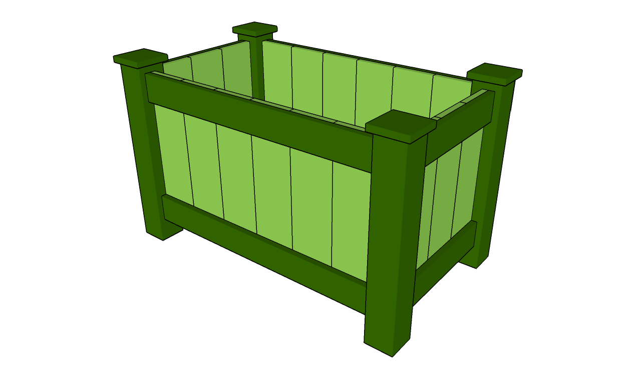 Raised planter box plans myoutdoorplans free woodworking plans herb planter box plans deck planter plans baanklon Image collections