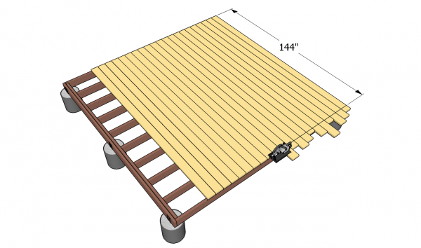 Ground level deck plans myoutdoorplans free for Wood deck designs free