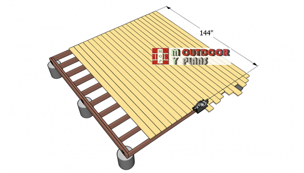 Installing-the-decking-boards
