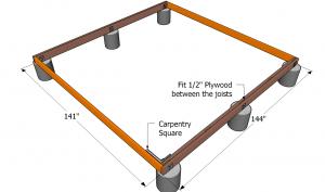 Installing the rim joists