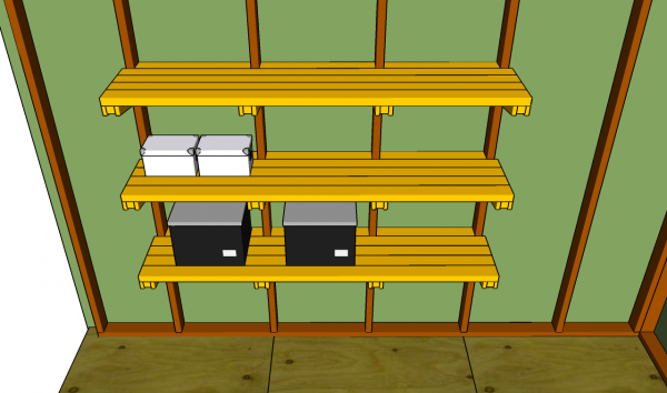 Garage Shelves Plans | MyOutdoorPlans | Free Woodworking ...