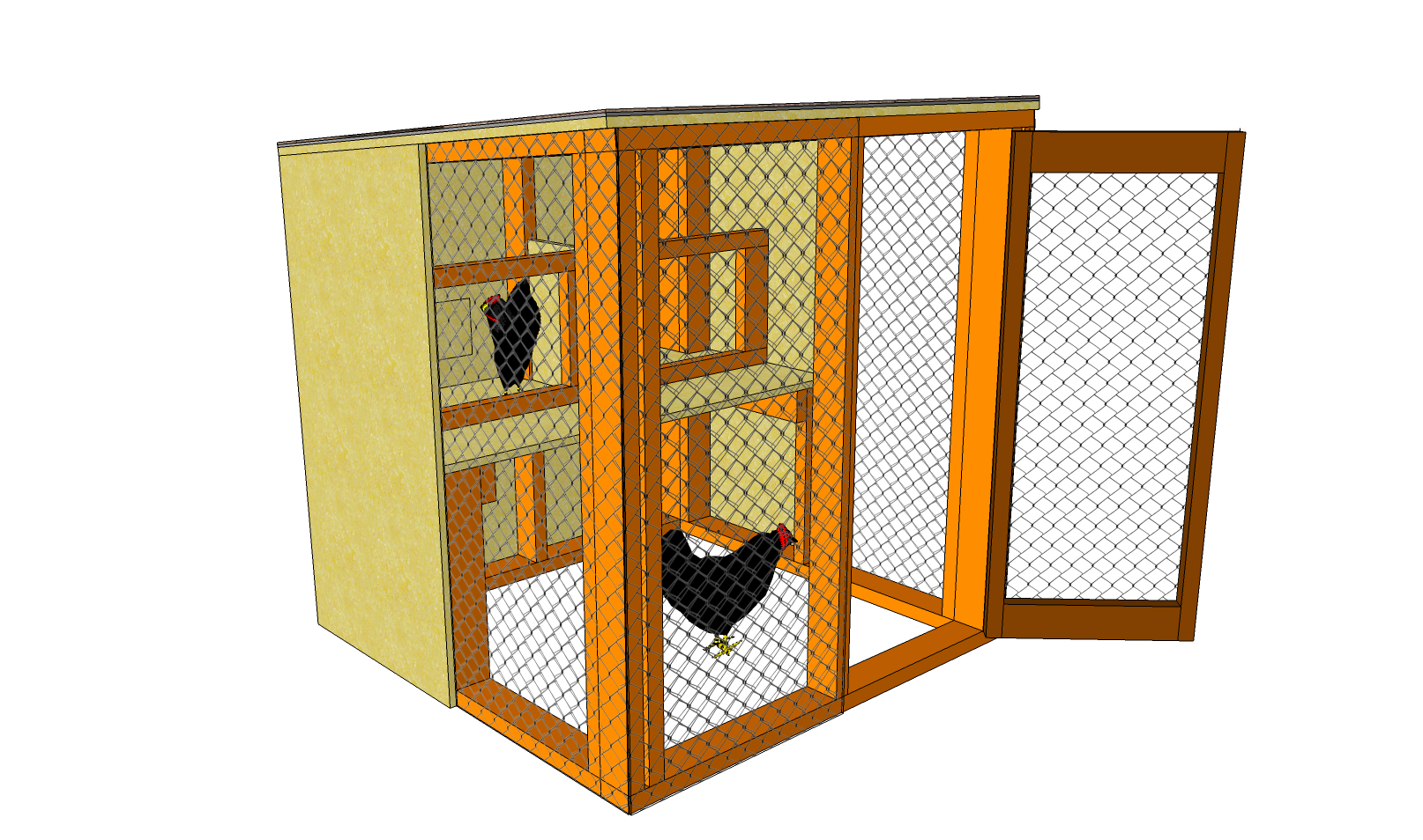 Chicken house plans chicken coop plans free download with for Plans for a chicken coop for 12 chickens