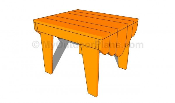 Adirondack table plans myoutdoorplans free woodworking for Adirondack side table plans