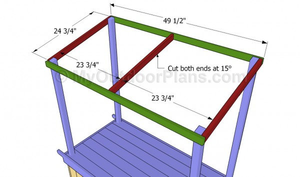 Buiding the roof frame