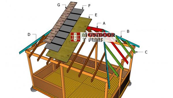 Building-a-gazebo-hip-roof