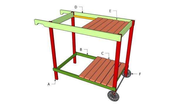 Build Outdoor Grill Cart