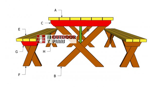 Building-a-x-picnic-table