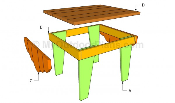 Building an adirondack table