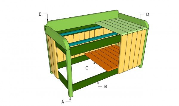 outdoor storage box plans