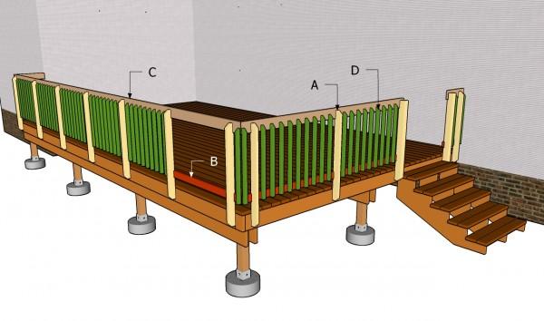 Building deck railing