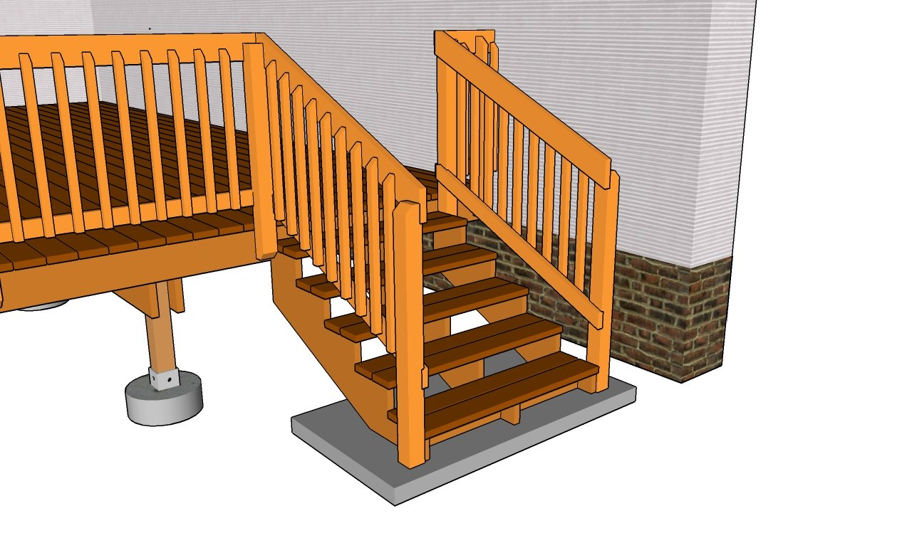 Deck railing plans myoutdoorplans free woodworking plans and deck stair railing plans baanklon Gallery
