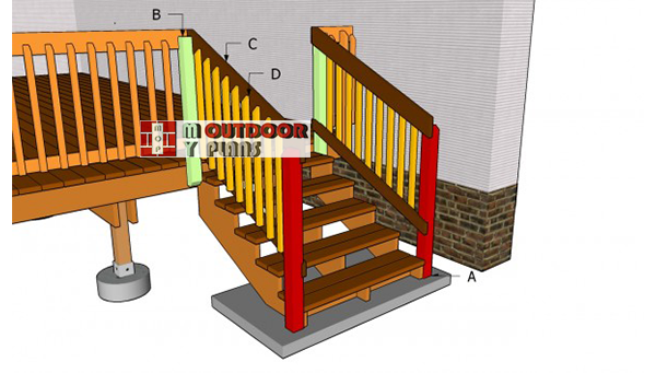 Deck-stair-railings