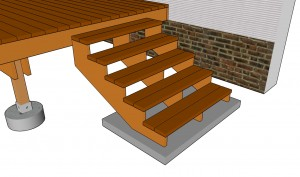 Deck stairs plans