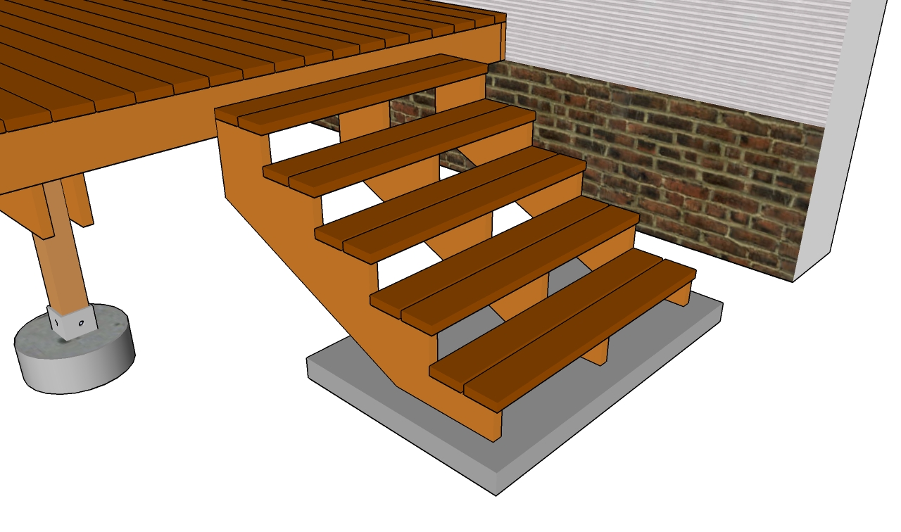 Deck Railing Plans Outdoor Deck Plans Deck Stairs Plans