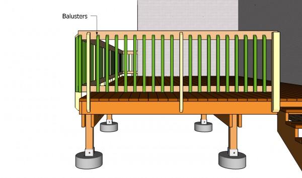 Deck railing plans myoutdoorplans free woodworking for Garden decking fitters