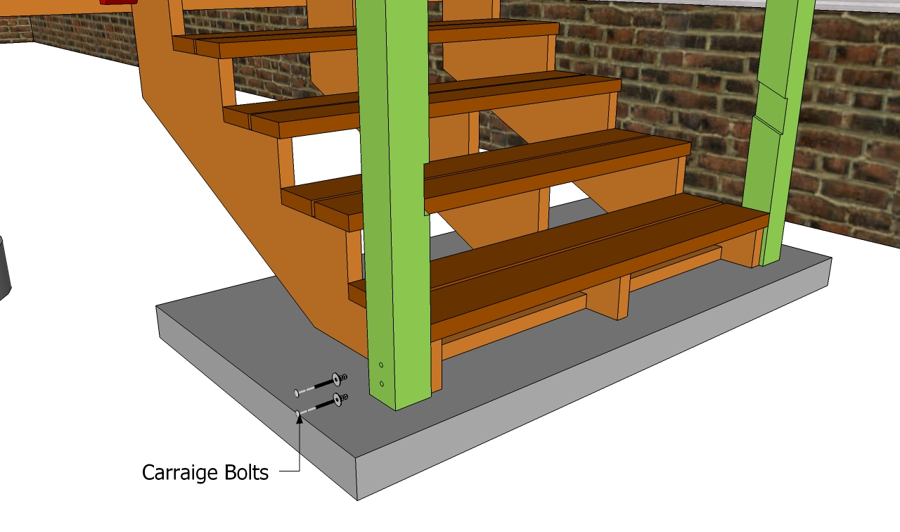 Deck Stair Railing Plans | Free Outdoor Plans - DIY Shed ...