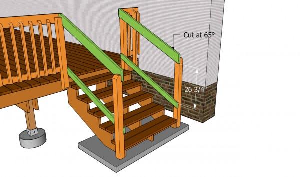 Deck stair railing plans myoutdoorplans free for Garden decking fitters