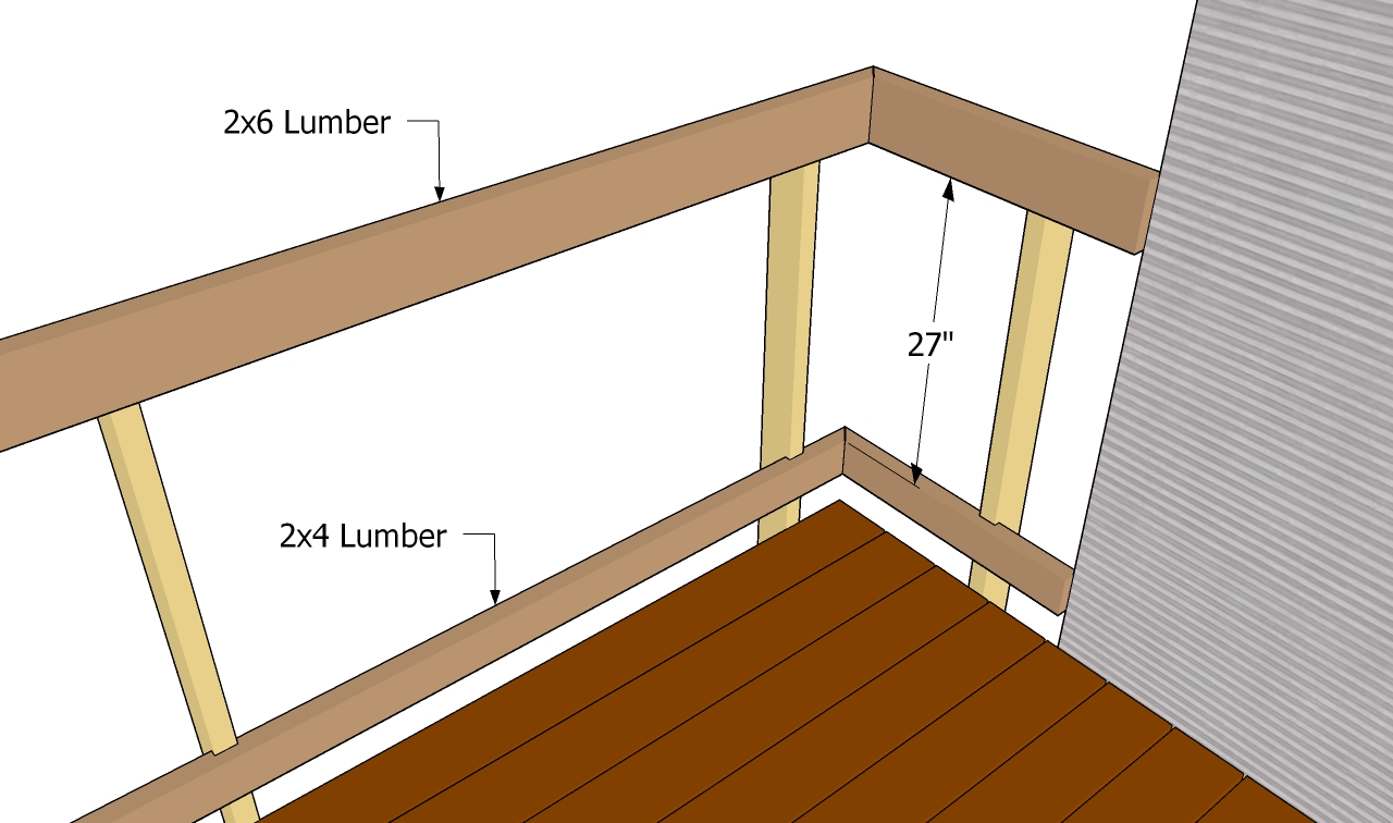 Deck Railing Plans   Free Outdoor Plans - DIY Shed, Wooden ...