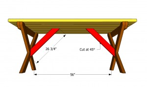 Fitting the table braces
