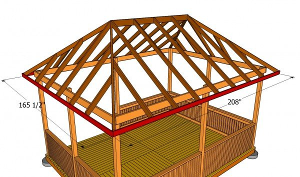 How to Build a Gazebo Roof | MyOutdoorPlans | Free Woodworking Plans ...