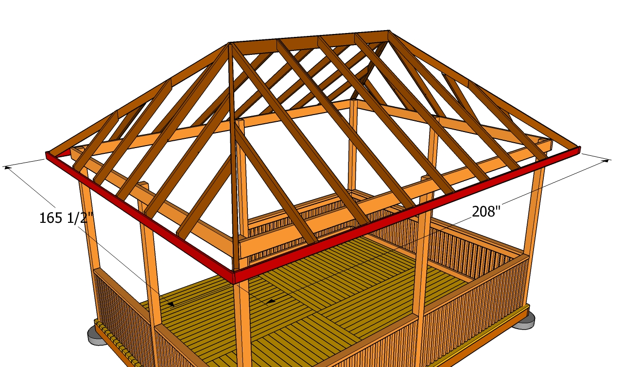 How To Build A Gazebo Roof Free Outdoor Plans Diy Shed