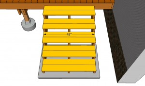 Installing decking slats