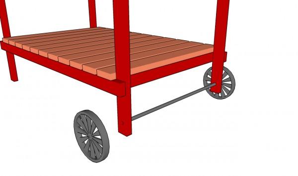Installing the cart wheels
