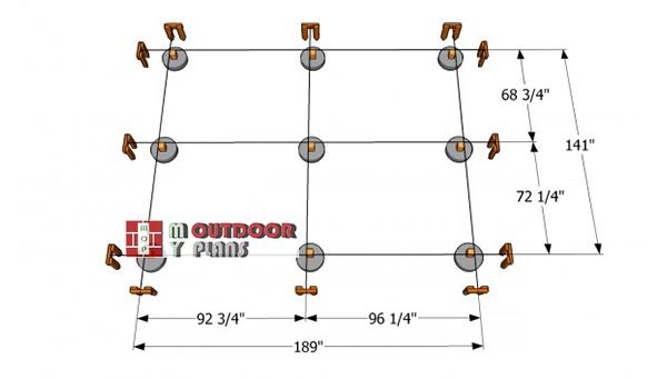 Laying-out-a-rectangular-gazebo