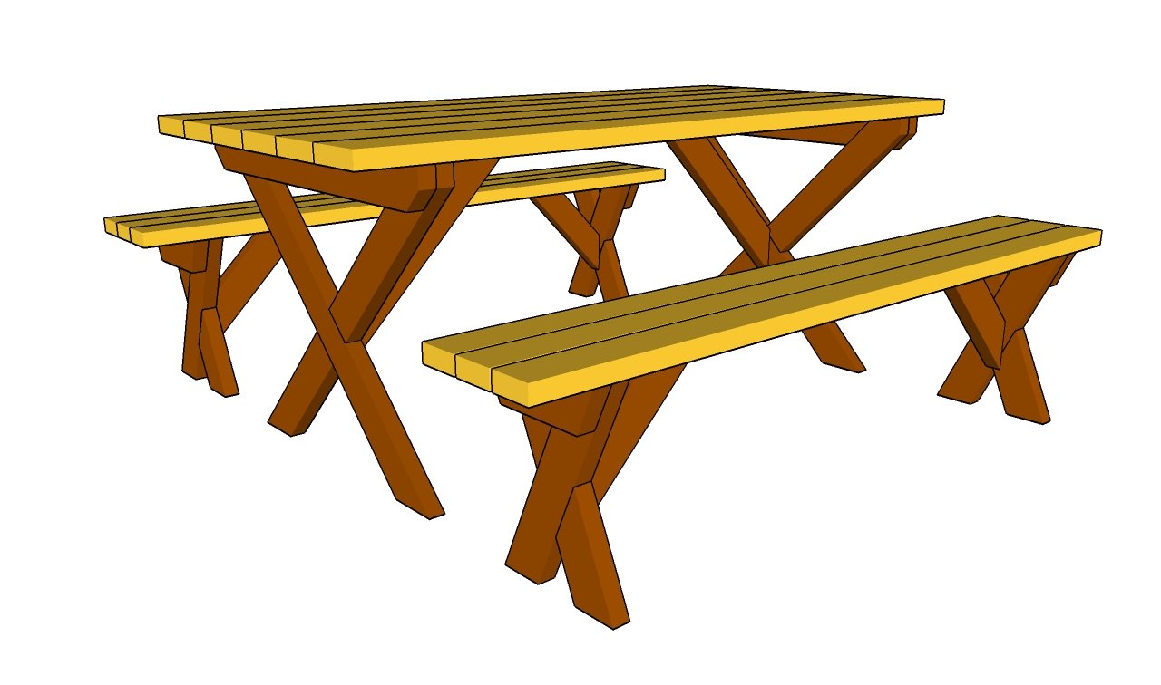 Folding Garden Bench Picnic Table Plans Diywoodplans
