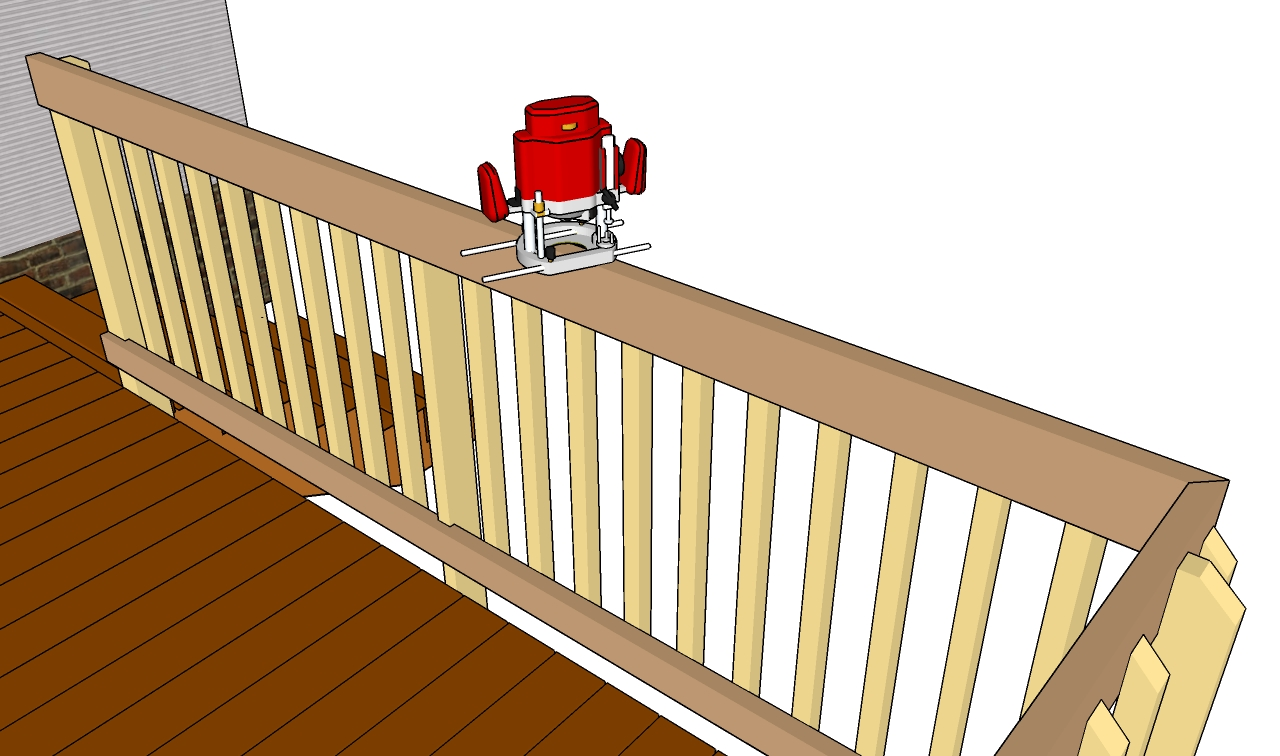 Deck Railing Plans Free Outdoor Plans Diy Shed Wooden