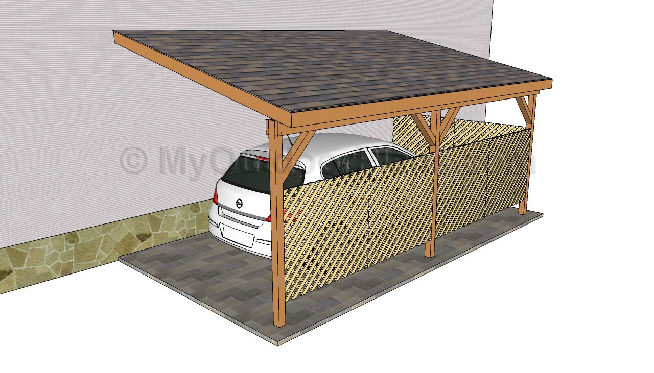 Pdf diy how to build an attached carport plans download for Garage with carport plans